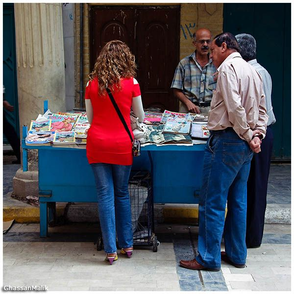 Iraq,girls,men,red