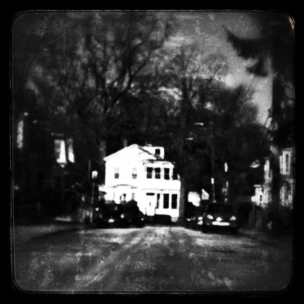 Boston, B/W, black, Dark, street