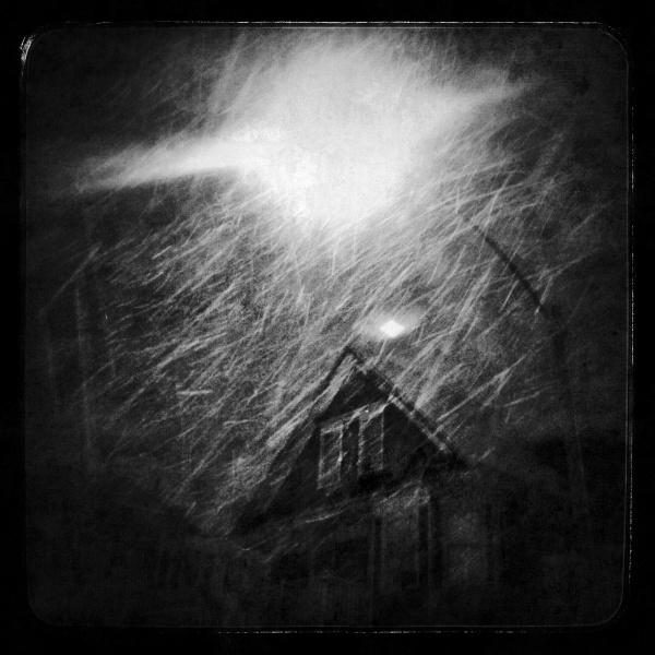 boston, dark, snow, blizzard, urban