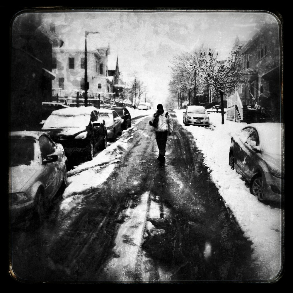 boston, dark, cold, snow, black, city, urban