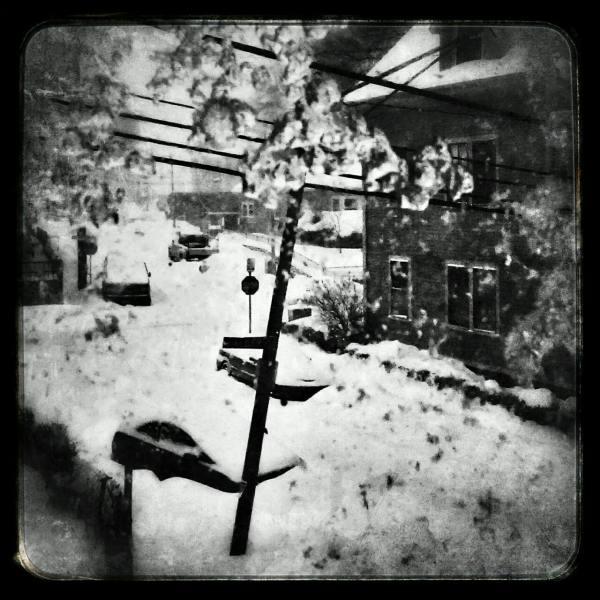 Boston, dark, snow, city, urban, winter