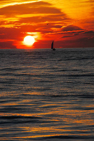 Sailing into the ...........