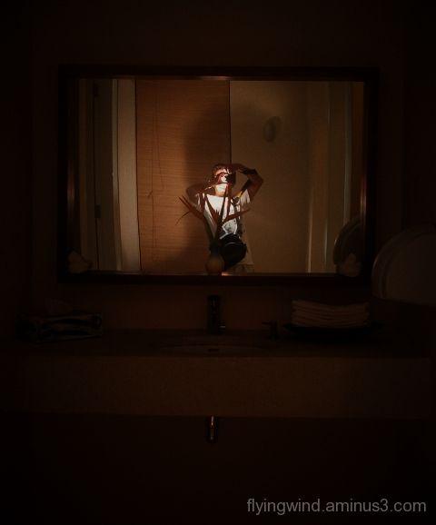 mirror in the bathroom