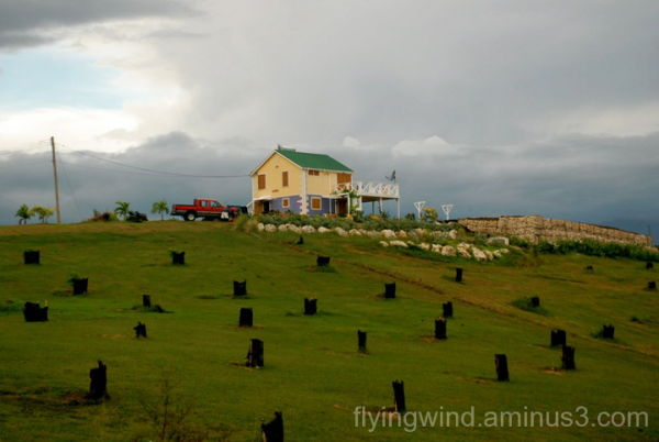Household on the hill