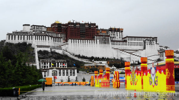 The Potala Palace in the rain