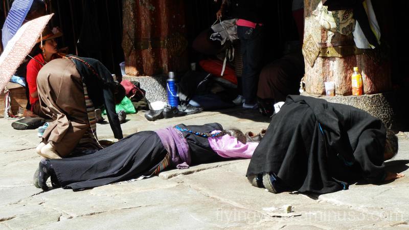 Believers in Jokhang Temple, Tibet