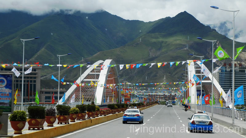 Road in Lhasa,Tibet
