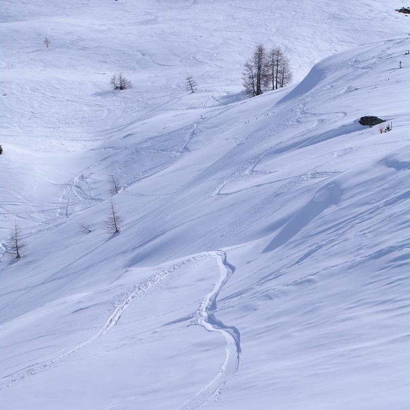 La neige comme partition...