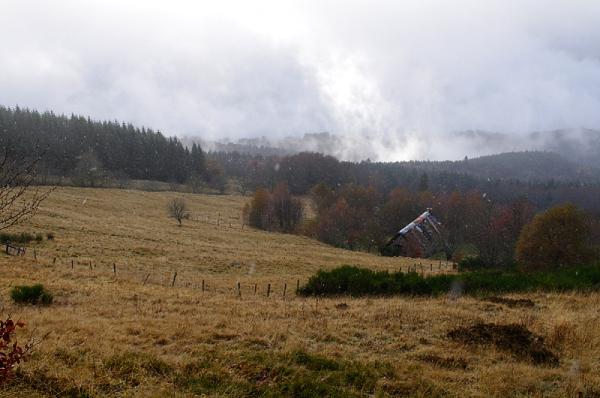 Neige et brouillard