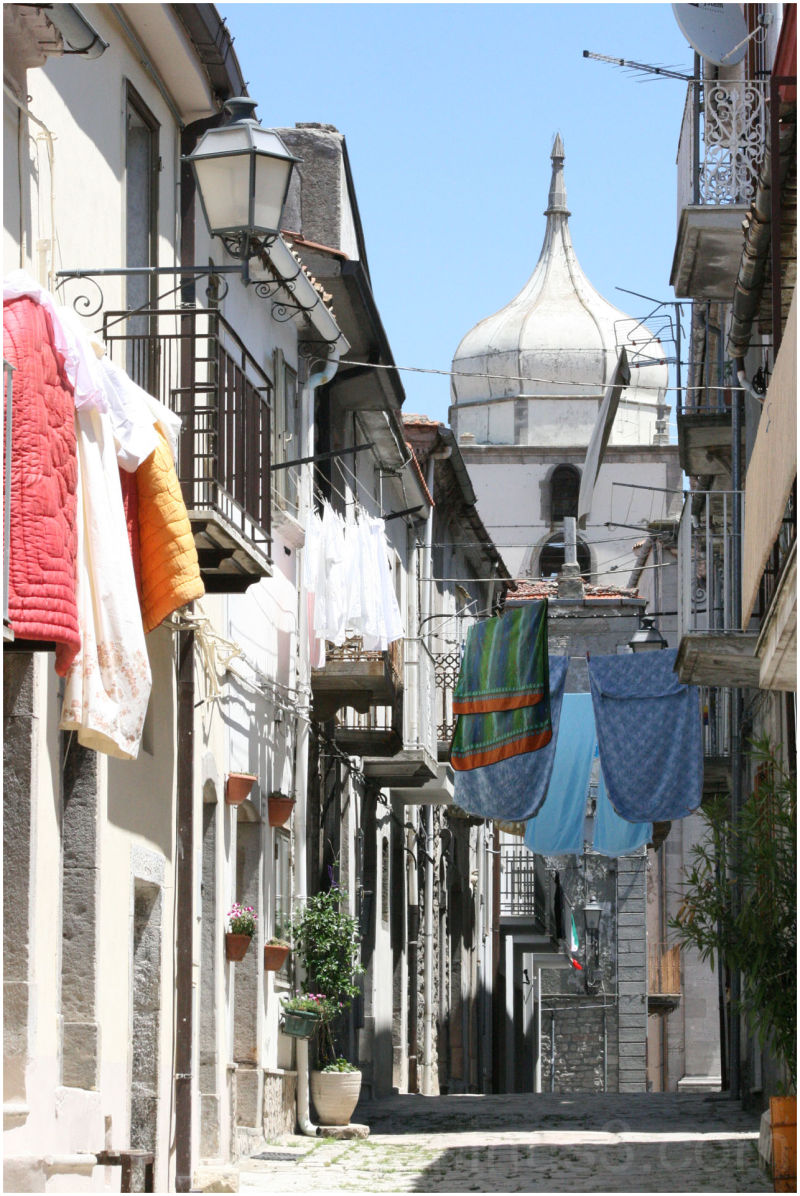 drying laundry in italy