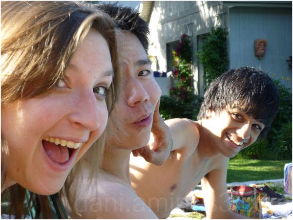 fun at a pool party
