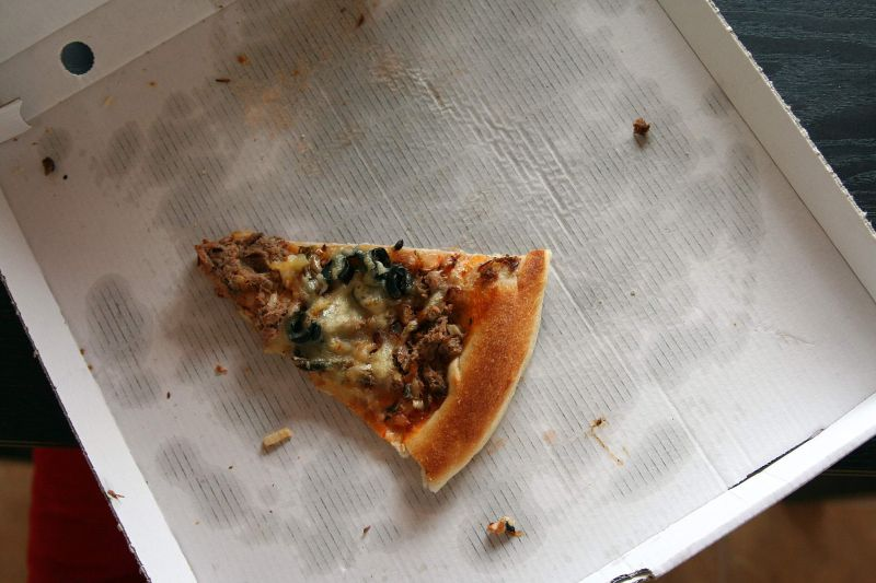 one slice left