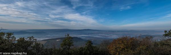 foggy morning panorama