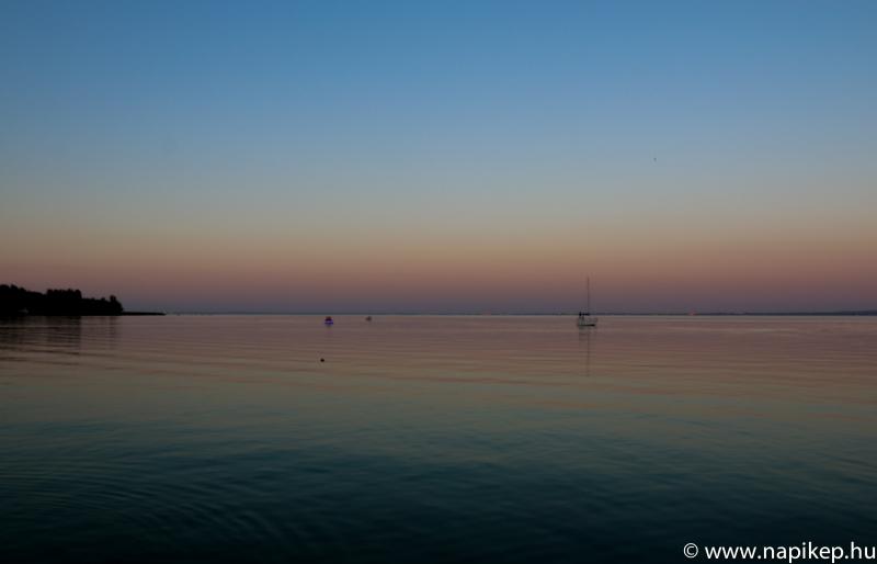 short evening walk by the lake Balaton