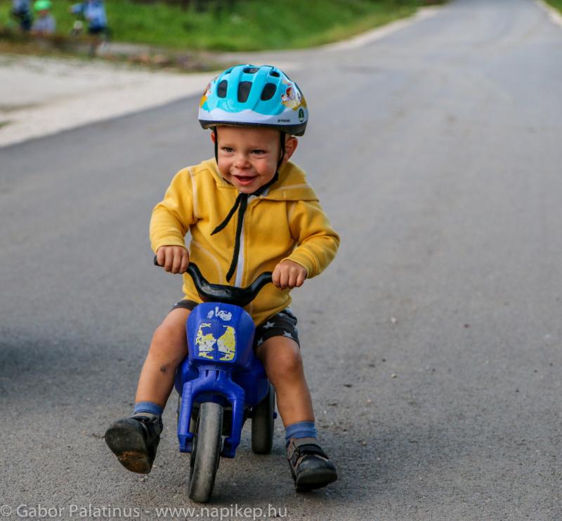 Adam on his bike