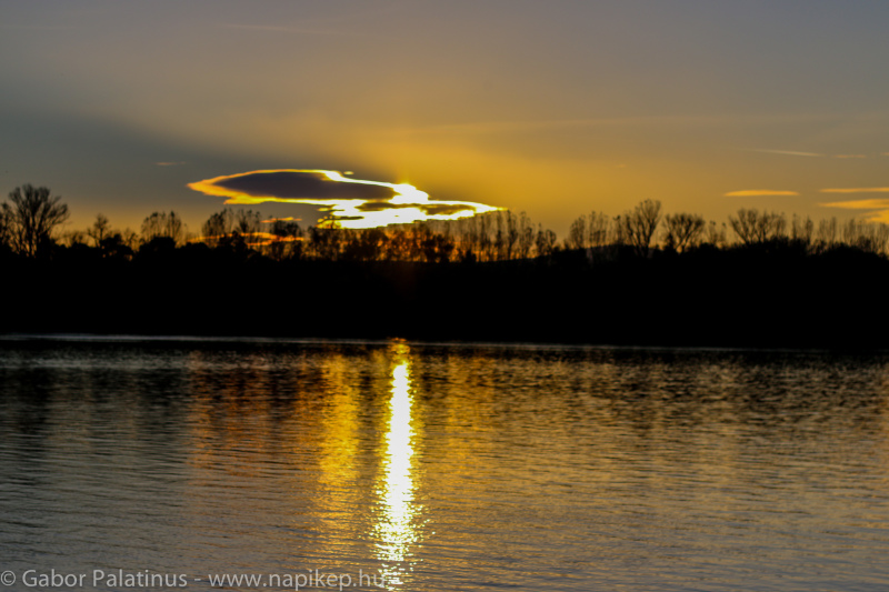 Sunset over the Duna