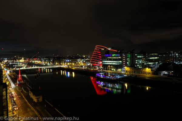 Dublin evening from the roof