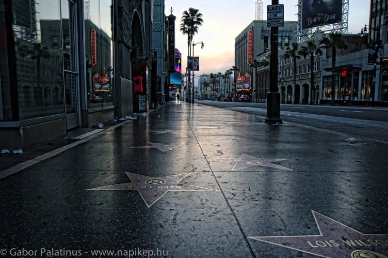 early morning in hollywood