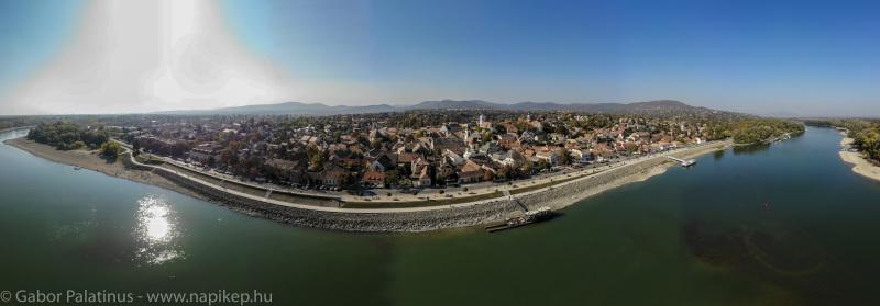 Szentendre aerial panorama