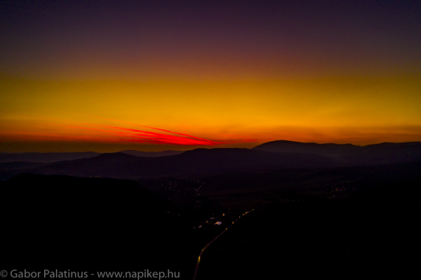 Sunset over Pomaz