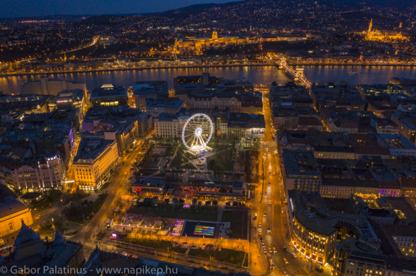 Budapest eye from the air