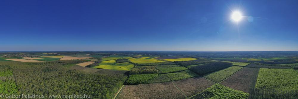 Cserfőhegy aerial panorama