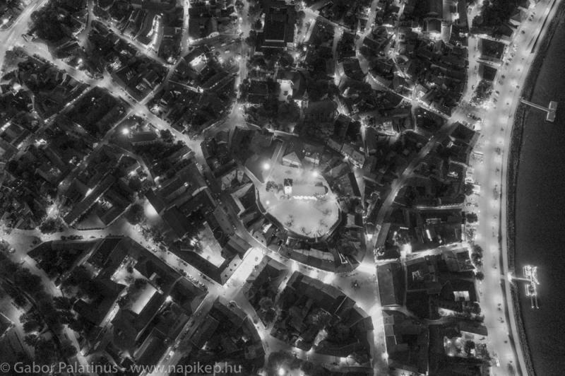 Szentendre aerial in mono
