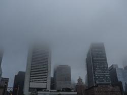 foggy Boston morning