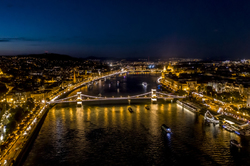 Budapest evening from the air