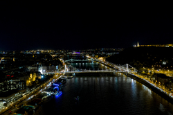 Budapest evening from the air - the other end