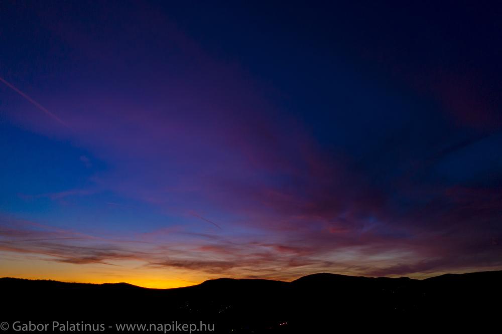 sunset again - over Pomaz again ;)