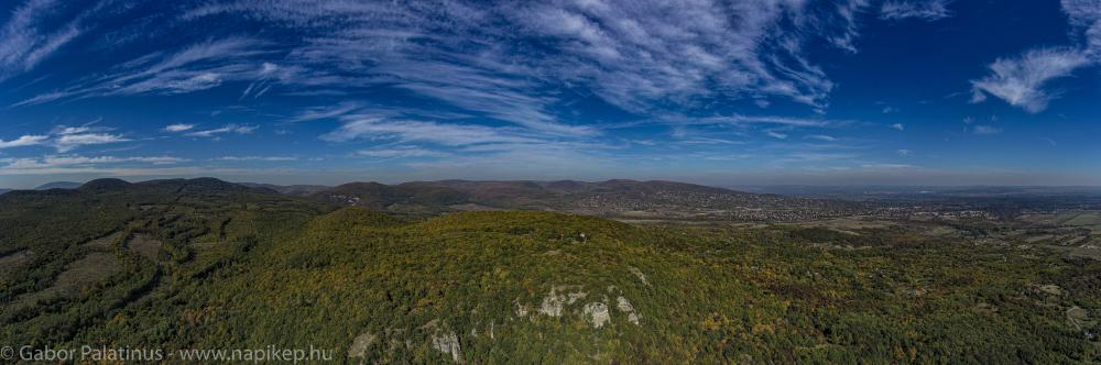 Kő-hegy aerial panorama