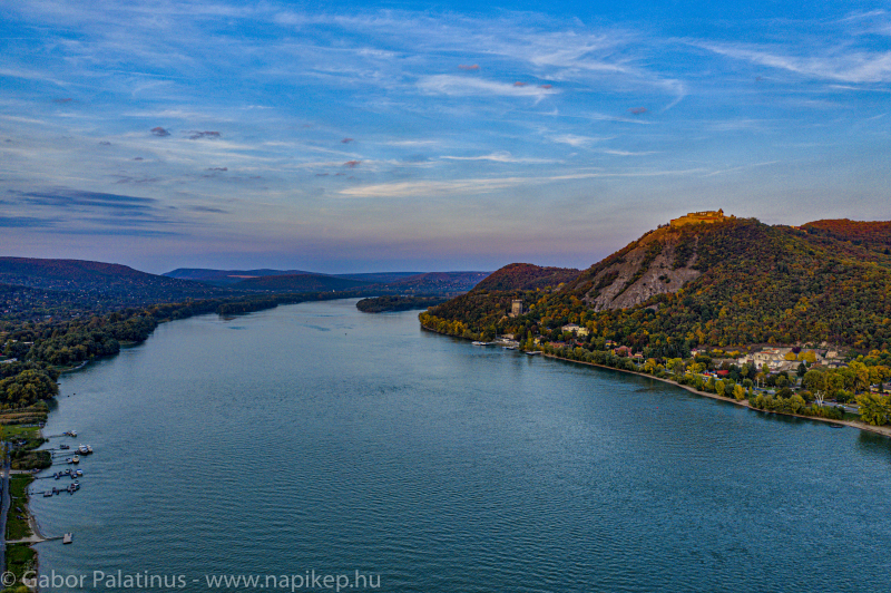 Visegrad Danube curve from the air