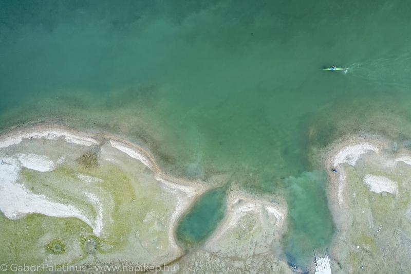 Duna with a kayaker