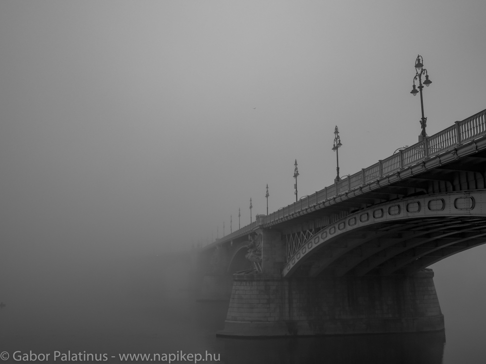 Margaret bridge hiding in the morning fog II