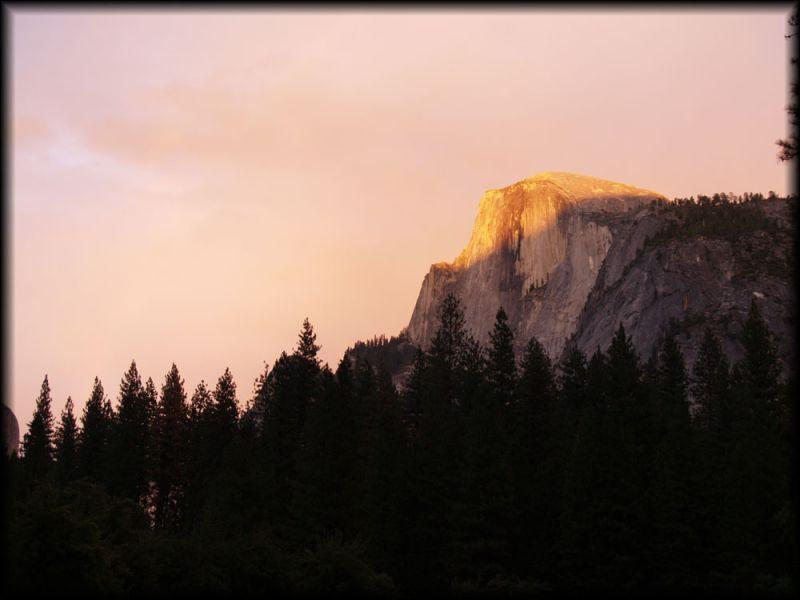 Half Dome Yosemite Sunset