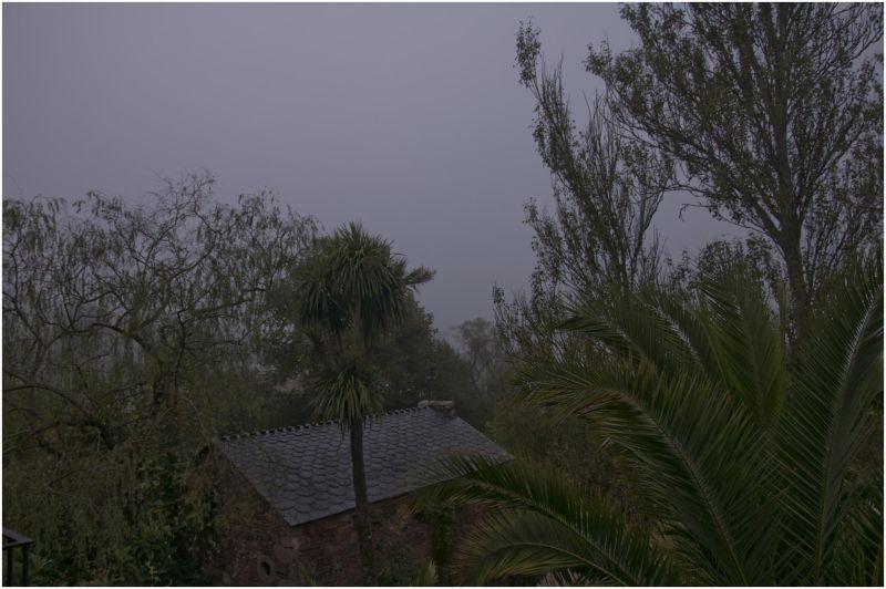 Amanecer nublado