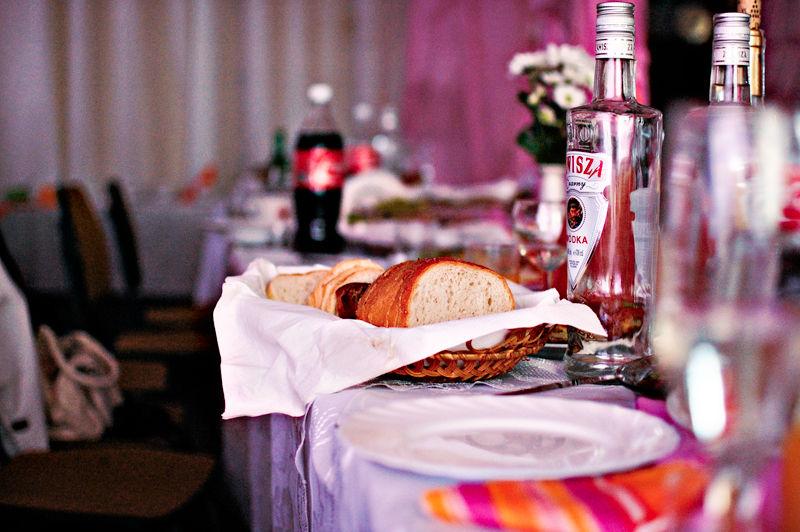 wodka and bread