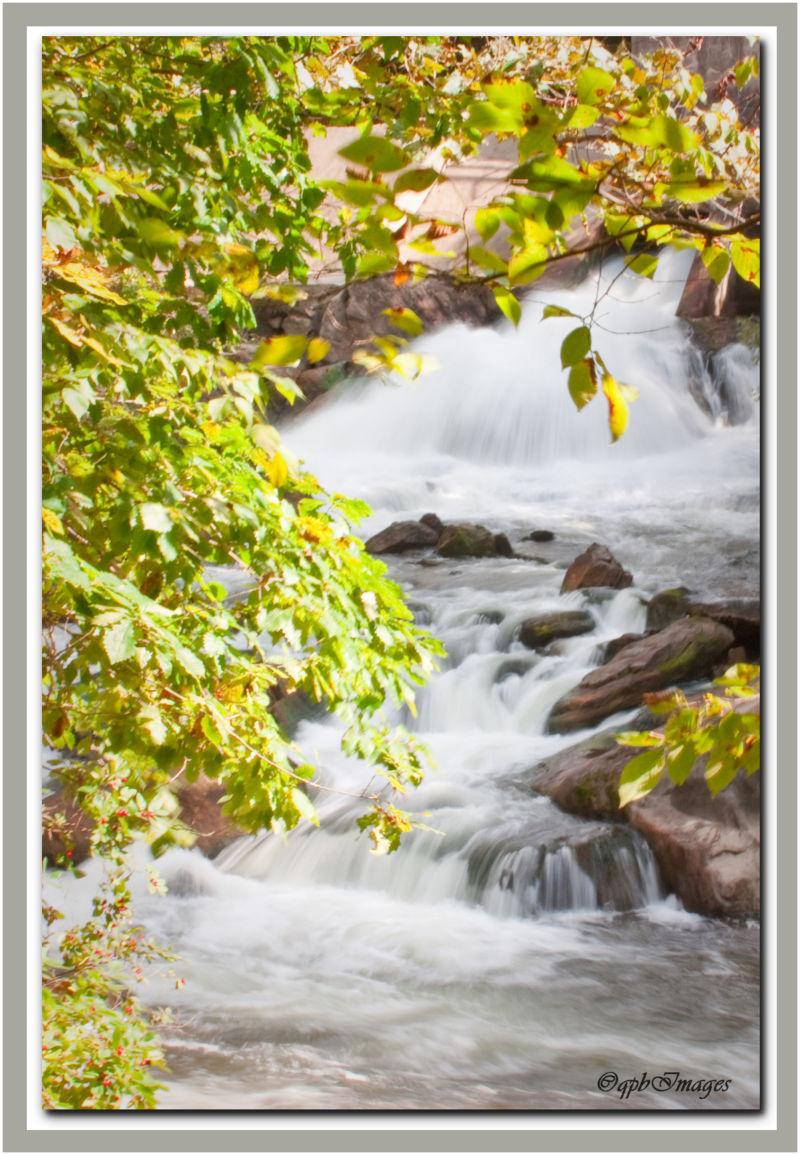 Waterfalls while hiking