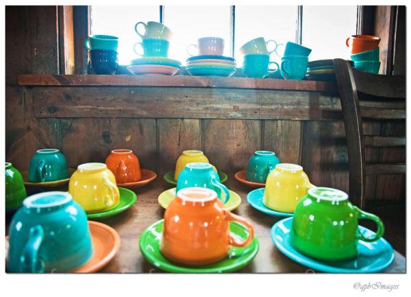 Rainbow of cups