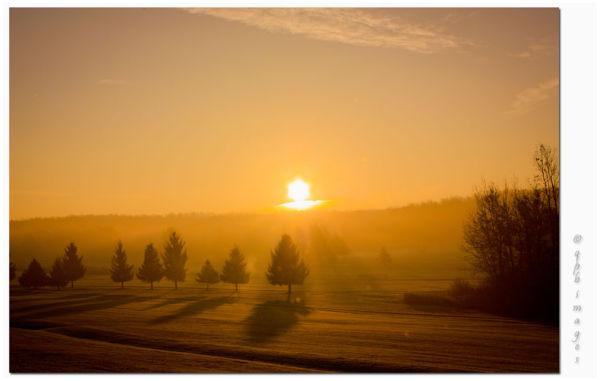 Golf course sunrise