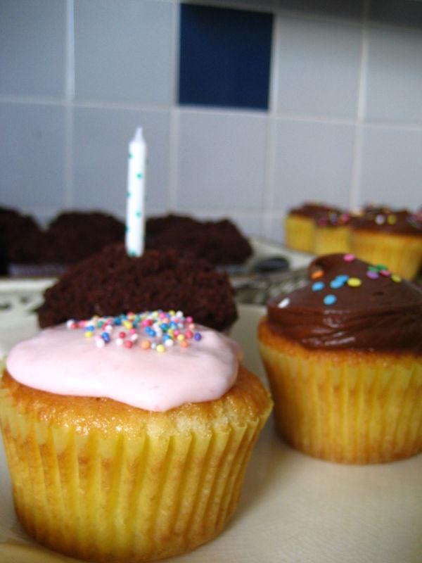 Birthday cupcake army