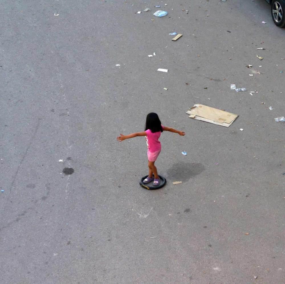 La jeune de la circulation