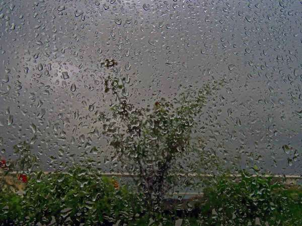 Sous un déluge de pluie
