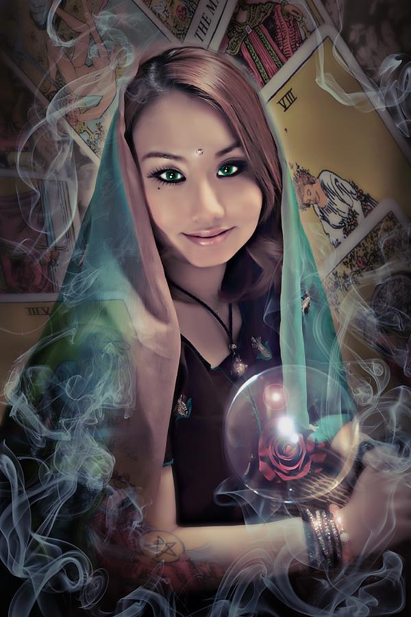 A fortune-teller's portrait
