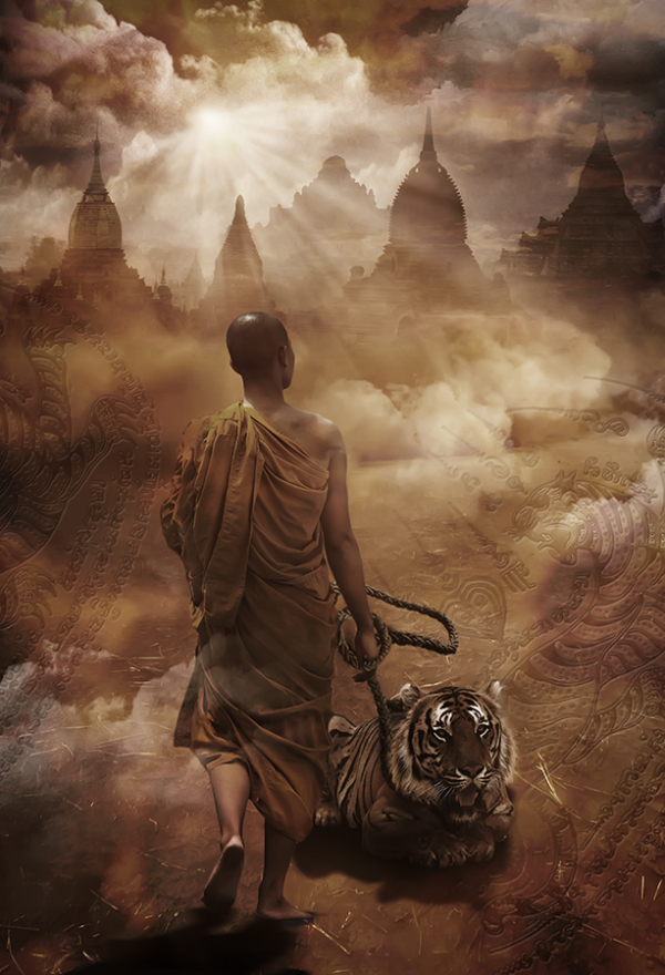 Thailand tiger temple monk1