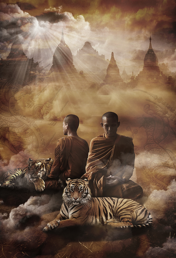 Thailand tiger temple monk2
