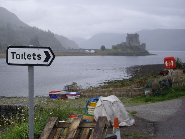 Eilan Donan Castle, Scotland, in the rain