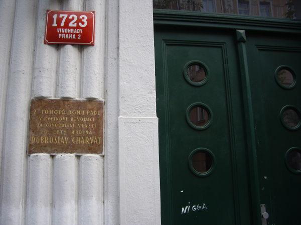 Vinohrady doorway