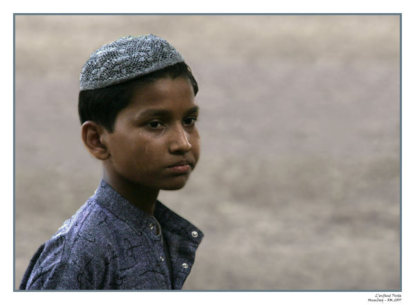 Souvenir d'Inde : Portrait d'enfant